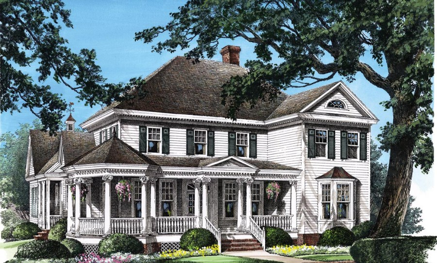 House Plan 86280 at FamilyHomePlans com Click Here to see an even larger picture  Colonial Farmhouse Southern Victorian  House Plan