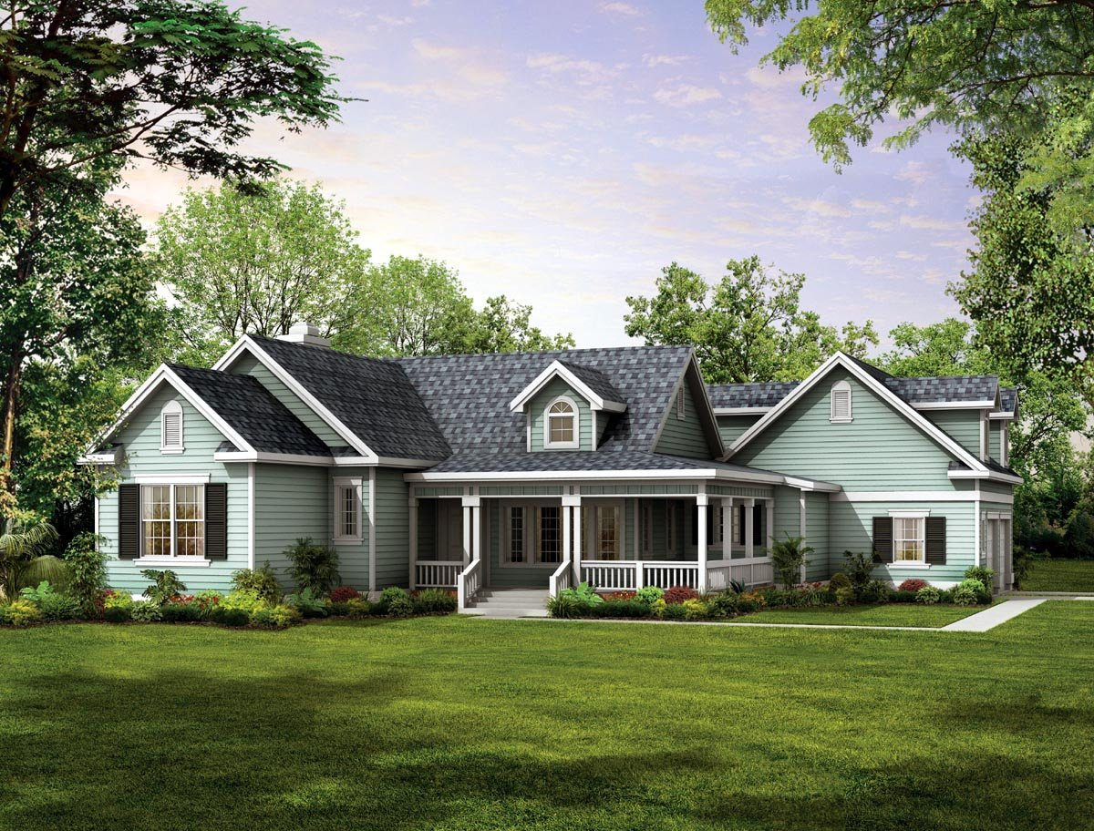 Victorian Style House Plan 90277 With 3 Bed, 2 Bath