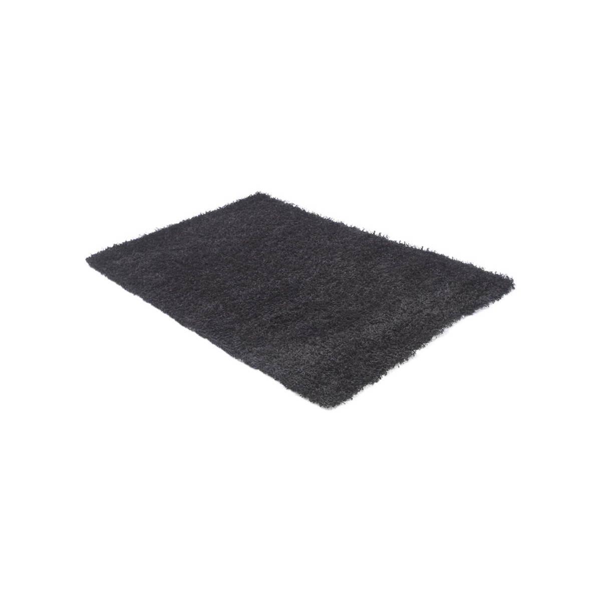 tapis contemporain et design mike rectangulaire grand modele 330 x 240 noir amp story 3493