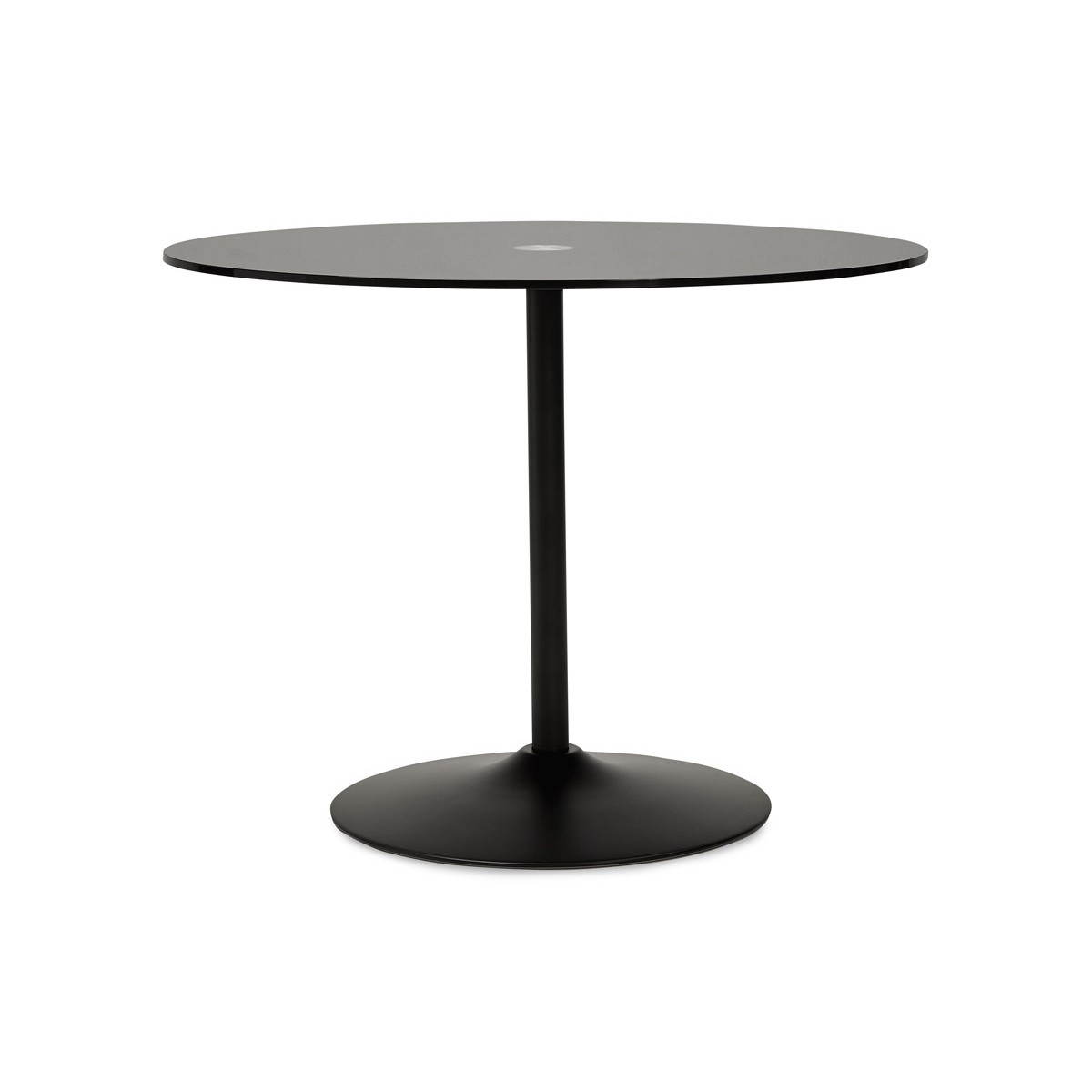 Design Roundtable Milan Glass And Metal O 100 Cm Black