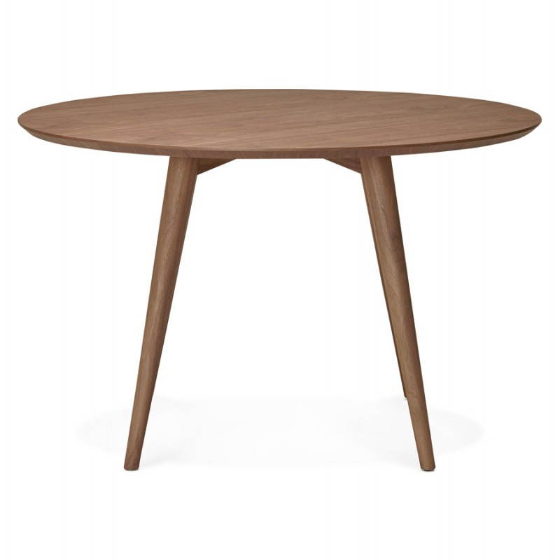 round dining table vintage style scandinavian sofia o 120 cm wood walnut dining room table and high table