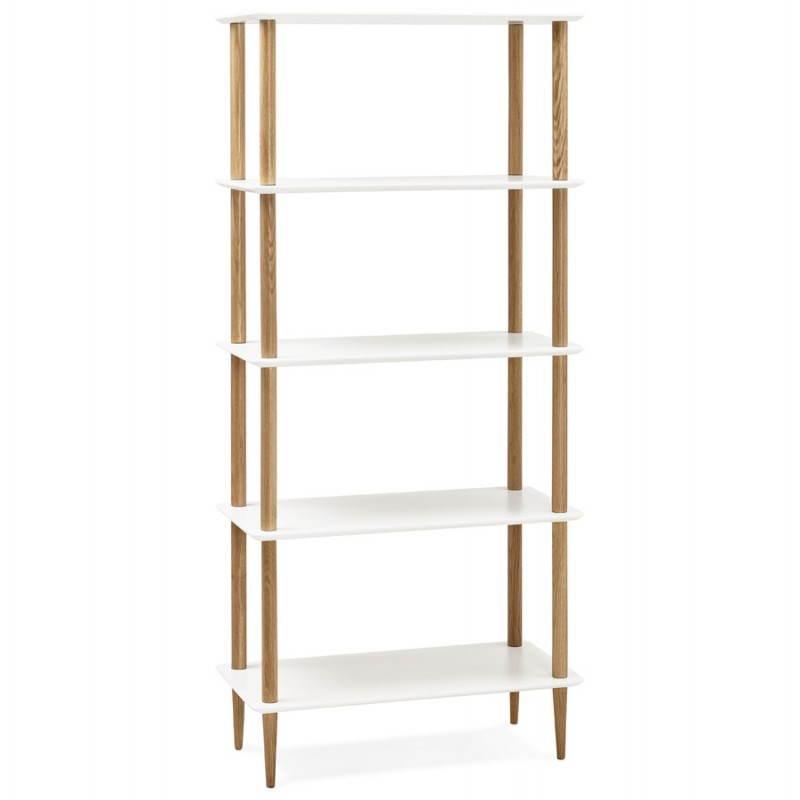 etagere bibliotheque design style scandinave erika en bois blanc etageres paravents