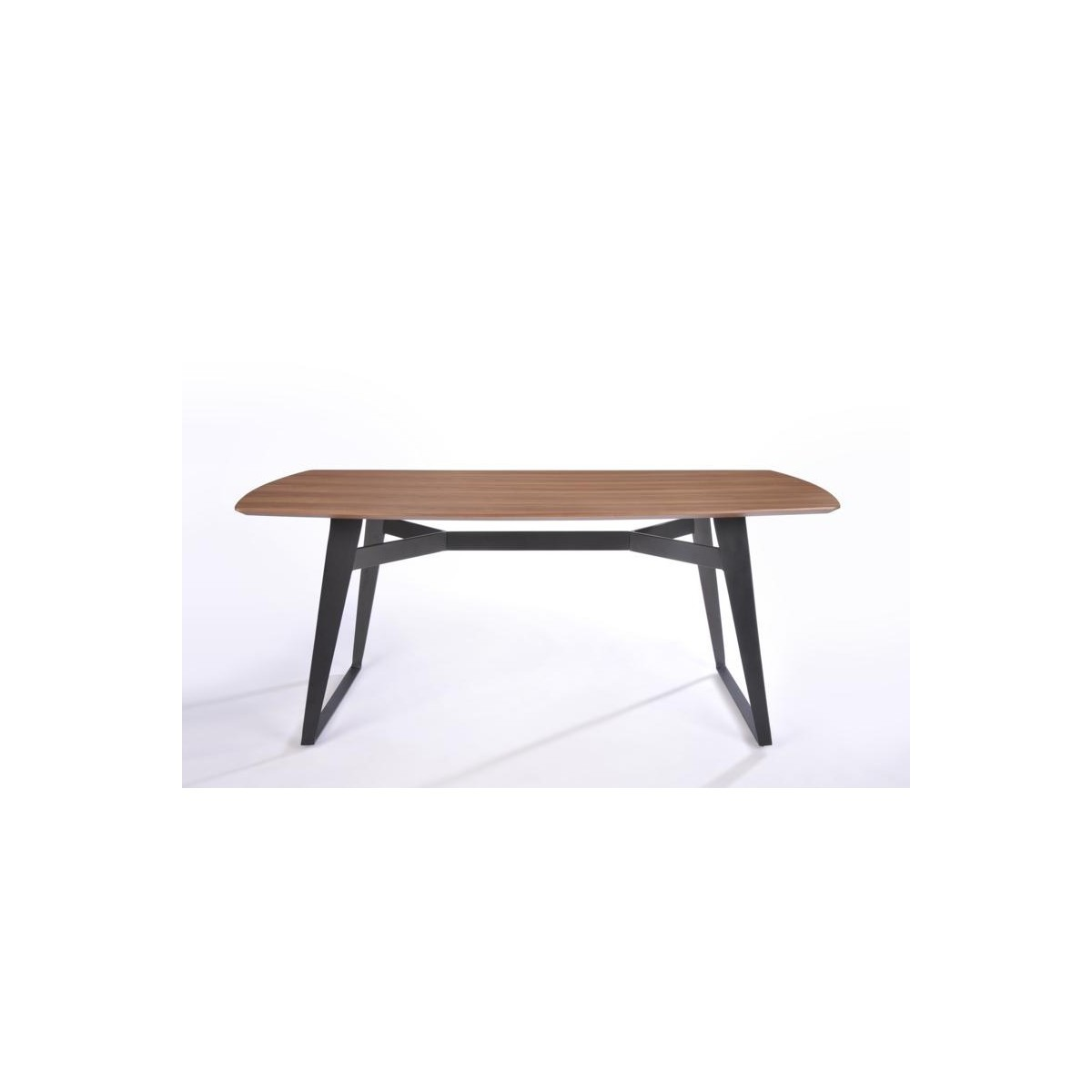 contemporary dining table and vintage mael in wood and metal 200cmx90cmx77 5cm black walnut amp story 4232