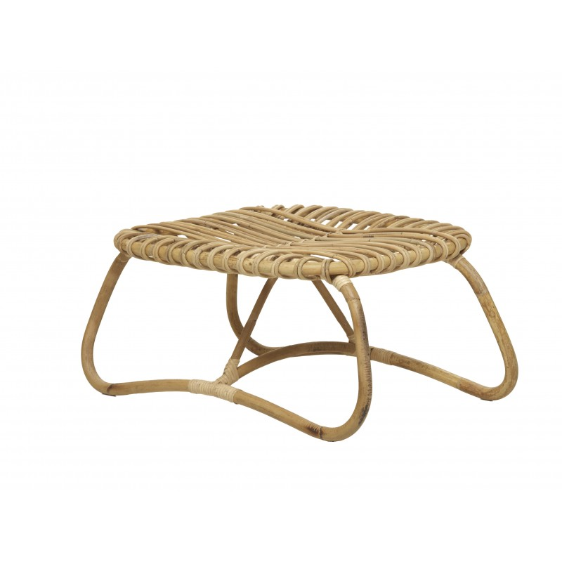 coffee table natural rattan bean boucle vintage style low tables