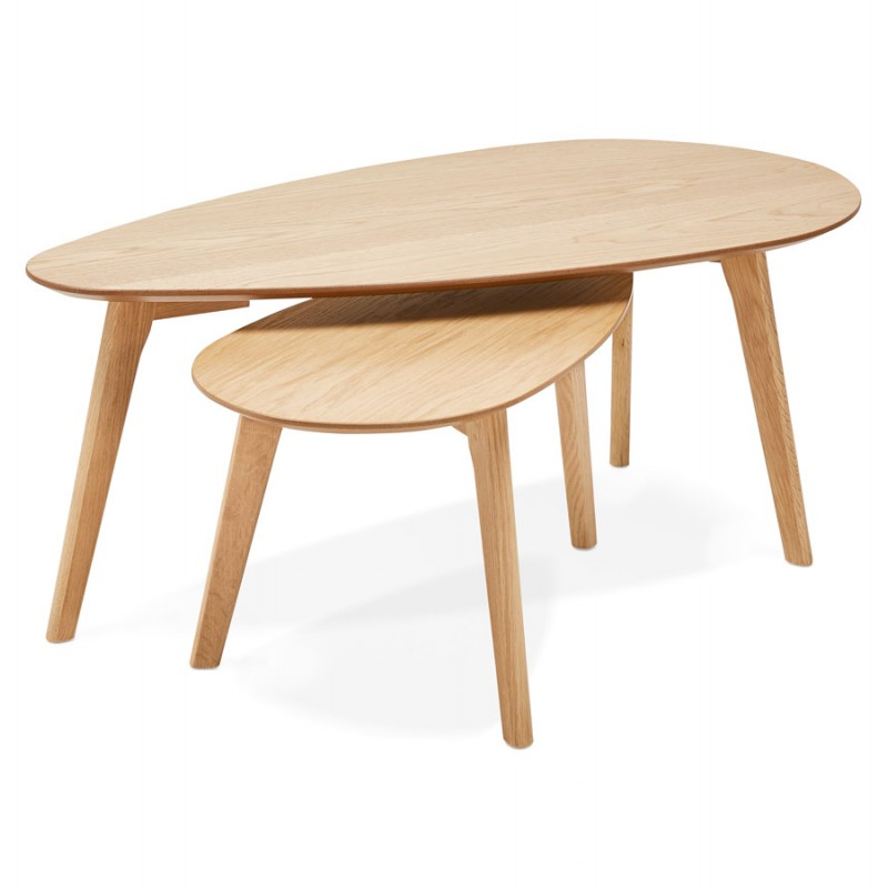 ramon oval wooden design tables natural finish low tables