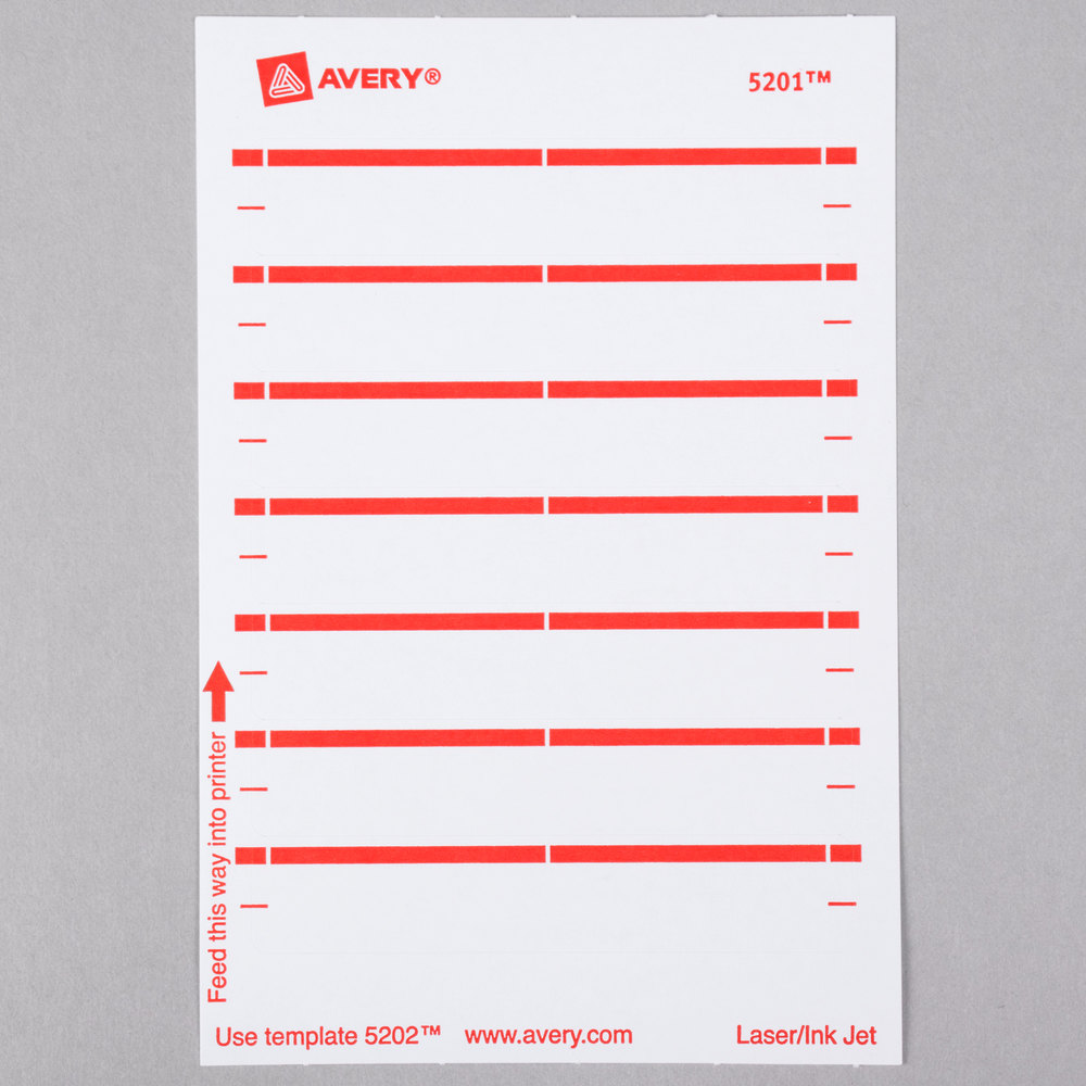 File Folder Labels Avery Red