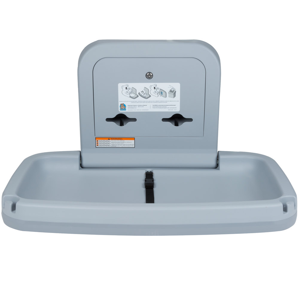Koala Kare KB200 01 Horizontal Baby Changing Station Table Gray