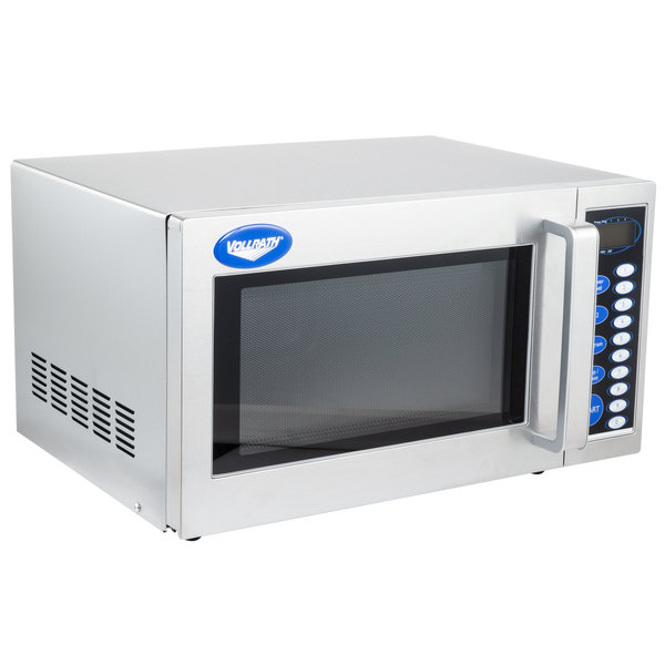 vollrath 40819 stainless steel commercial microwave oven with digital controls 120v 1000w