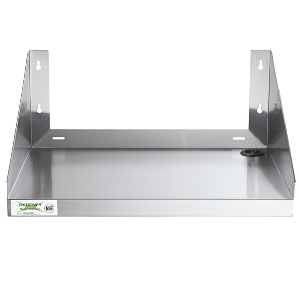 regency 24 x 18 stainless steel microwave shelf