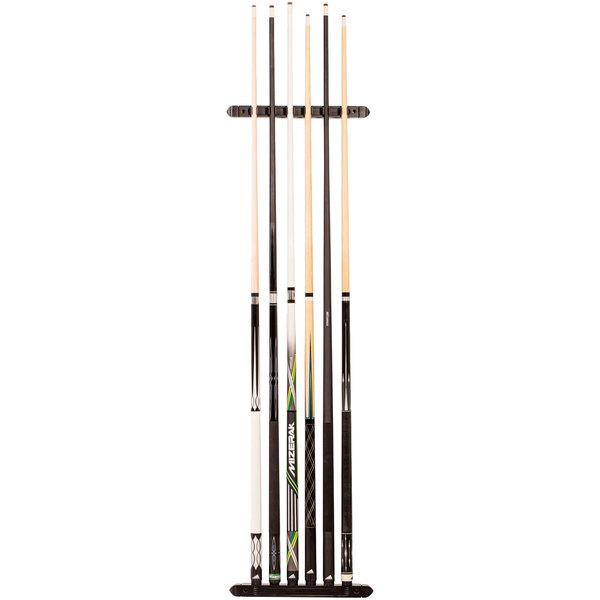 mizerak p1817 two piece hardwood wall mount billiard pool cue rack