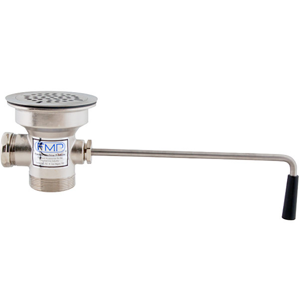fmp 100 1031 twist waste valve with 3 1 2 sink opening 2 drain opening with 1 1 2 reducer flat strainer and overflow port