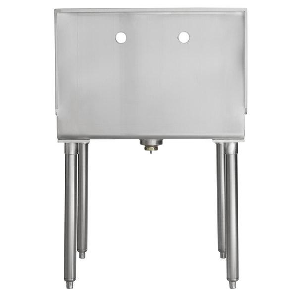 regency 18 gauge 304 stainless steel standing mop sink 21 x 24 x 8
