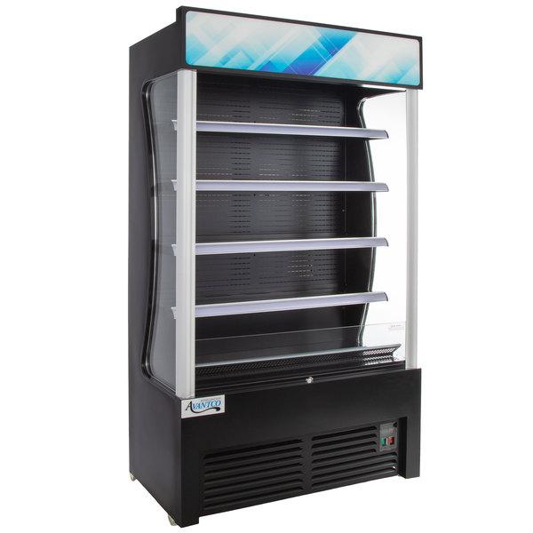 avantco bvac 46hc 46 black refrigerated air curtain merchandiser