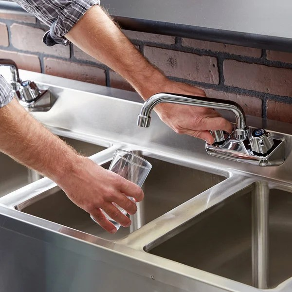 regency 4 bowl underbar sink with two faucets and two drainboards 72 x 18 3 4