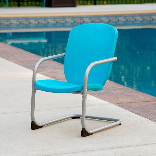 lifetime 60161 blue retro patio chair 2 pack
