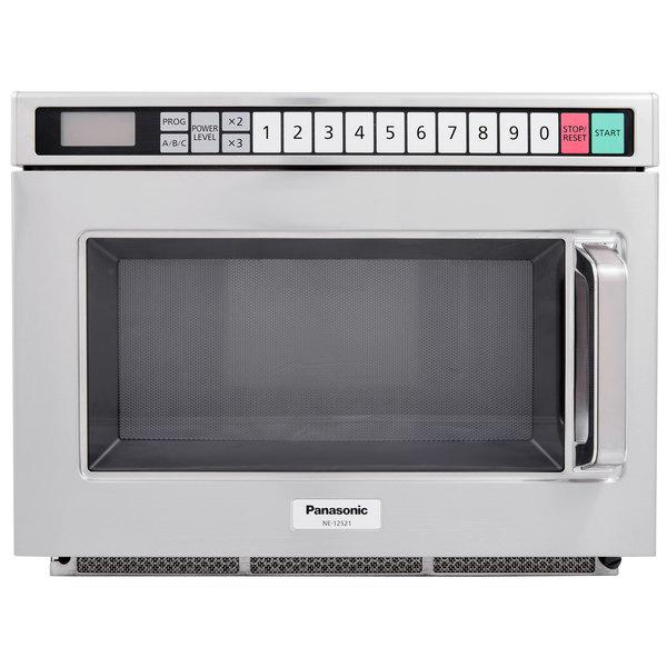 panasonic ne 12521 stainless steel medium duty commercial microwave oven 120v 1200w