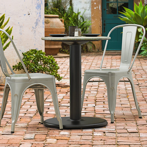 lancaster table seating millennium 22 round 4 table height column outdoor table base