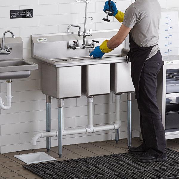 3 compartment sink plumbing code