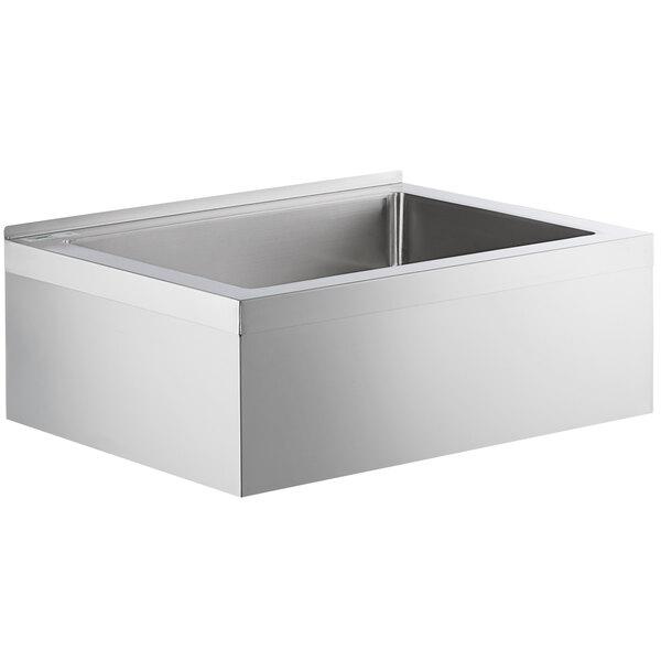 regency 33 16 gauge stainless steel one compartment floor mop sink 28 x 20 x 6 bowl