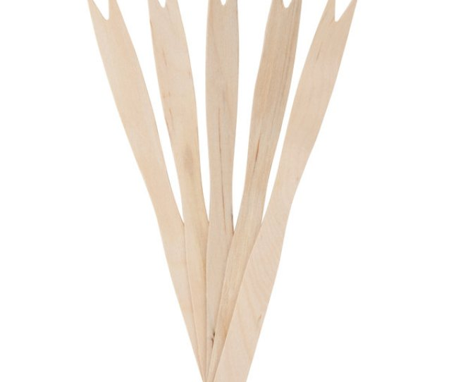 Take The Finger Out Of Finger Food With The Help Of This Royal Paper R  Disposable Wood Tasting French Fry Fork