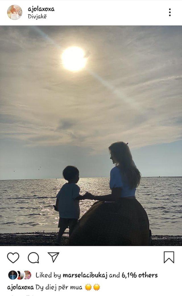 Si rrallëherë, Ajola Xoxa publikon pamjet e mrekullueshme me djalin e