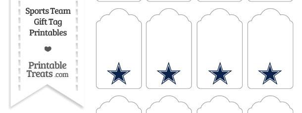 Dallas Cowboys Gift Tags Printable