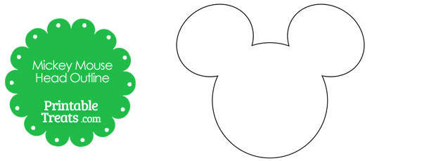 Printable Mickey Mouse Head Outline Printable Treats Com