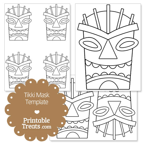printable tiki mask coloring pages lzk gallery