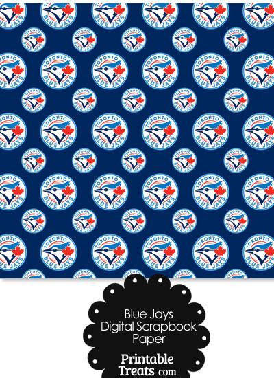 Toronto Blue Jays Baseball Digital Paper With Dark Blue