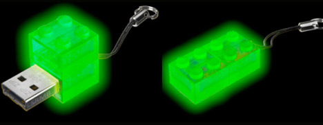 Glow-in-the-dark LEGO USB Key