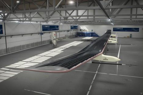 Solar Impulse HB-SIA airplane runs on solar power