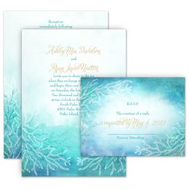 Ocean Dream Invitation With Free Response Postcard