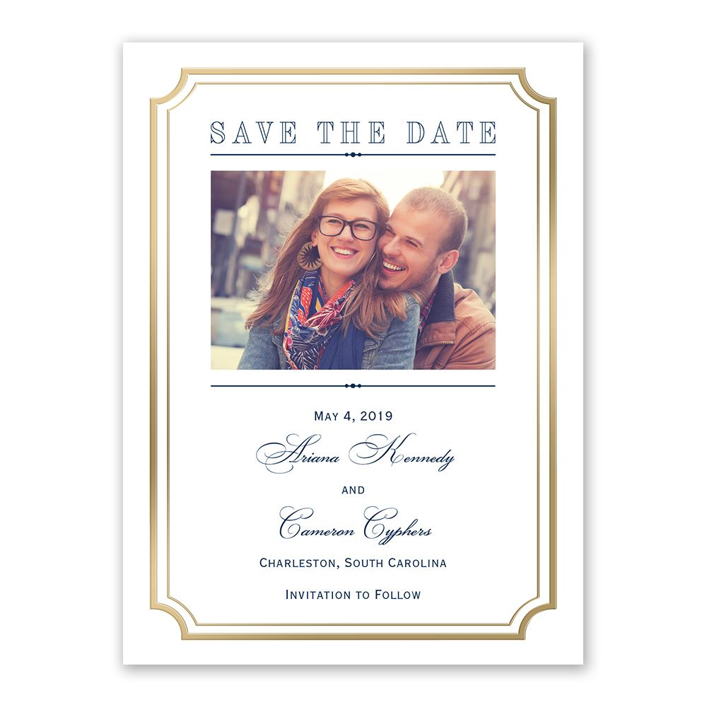 Cheap Wedding Invitations Navy
