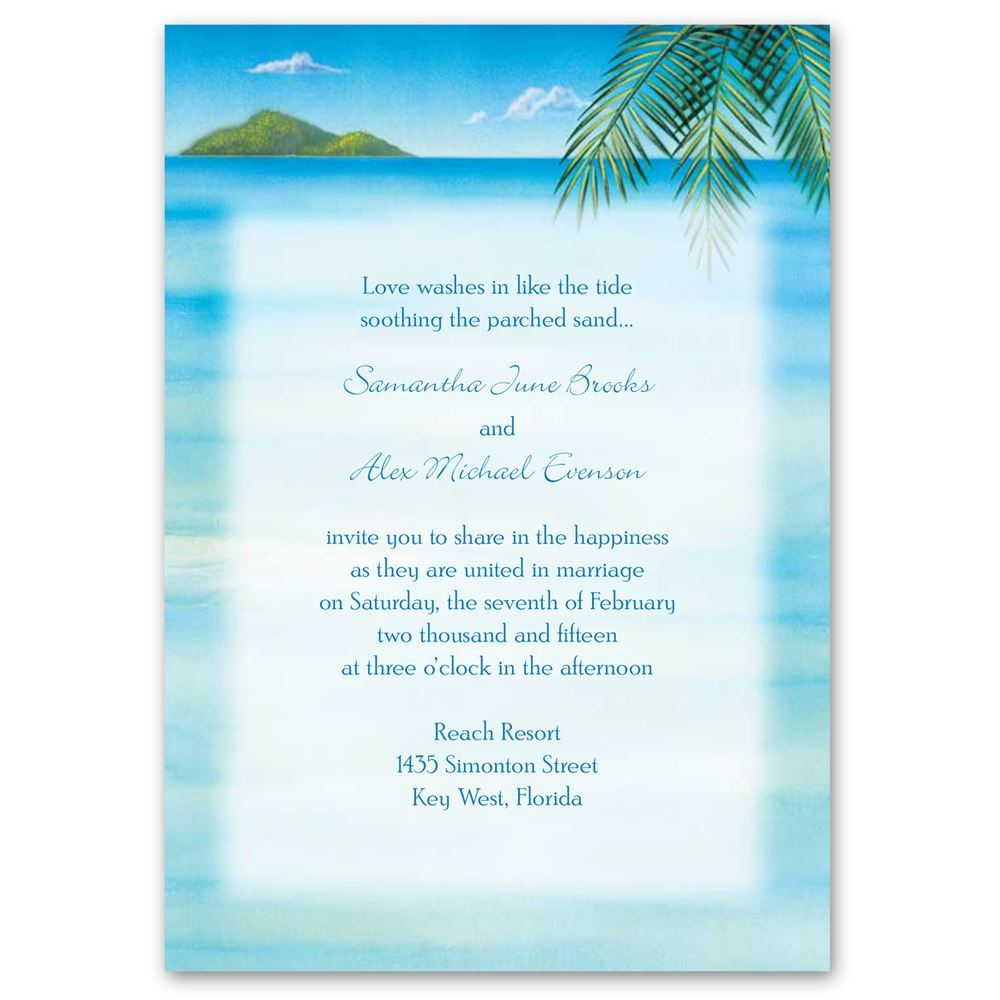 Ocean View Invitation With Free Response Card Anns
