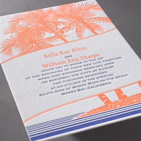 Tropical Escape Letterpress Invitation Invitations By Dawn