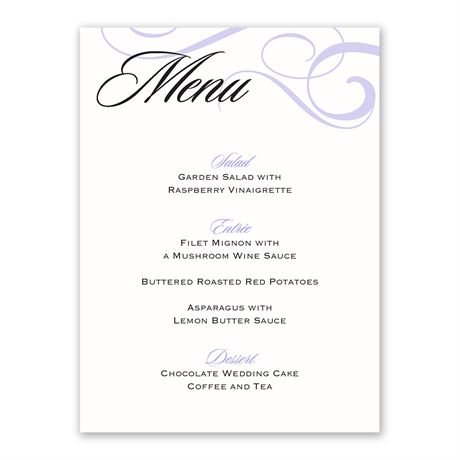 Modern Beauty Menu Card Invitations By Dawn