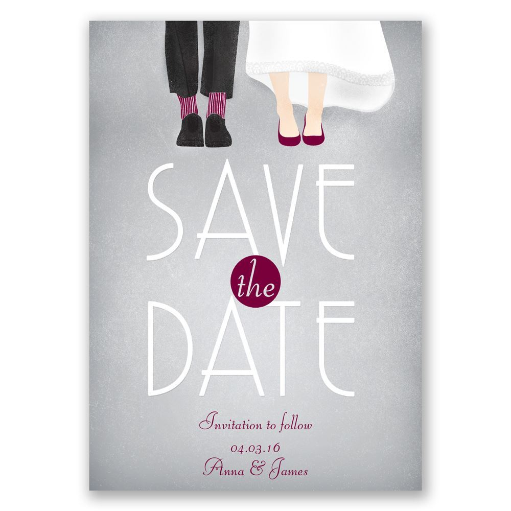 Dancing Shoes Mr And Mrs Save The Date Card