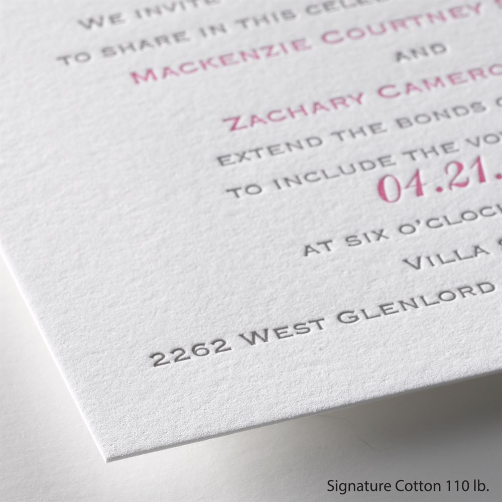 Perfect Match Letterpress Invitation Invitations By Dawn