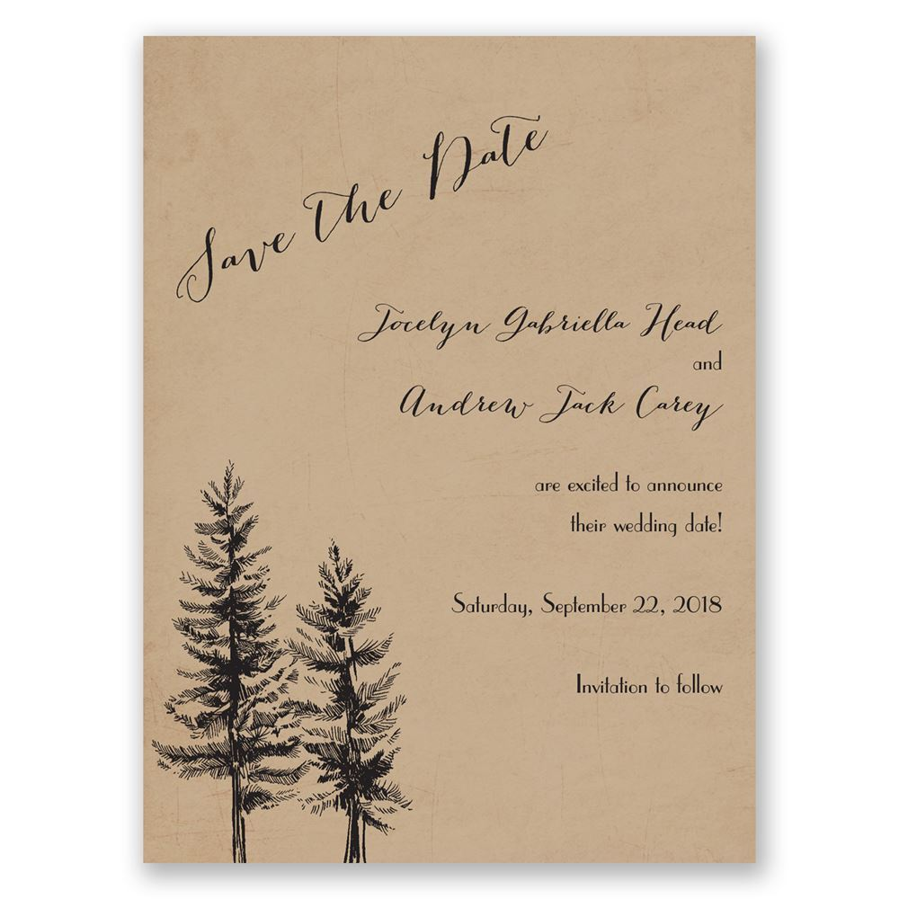 Spruced Up Save The Date Card Invitations By Dawn