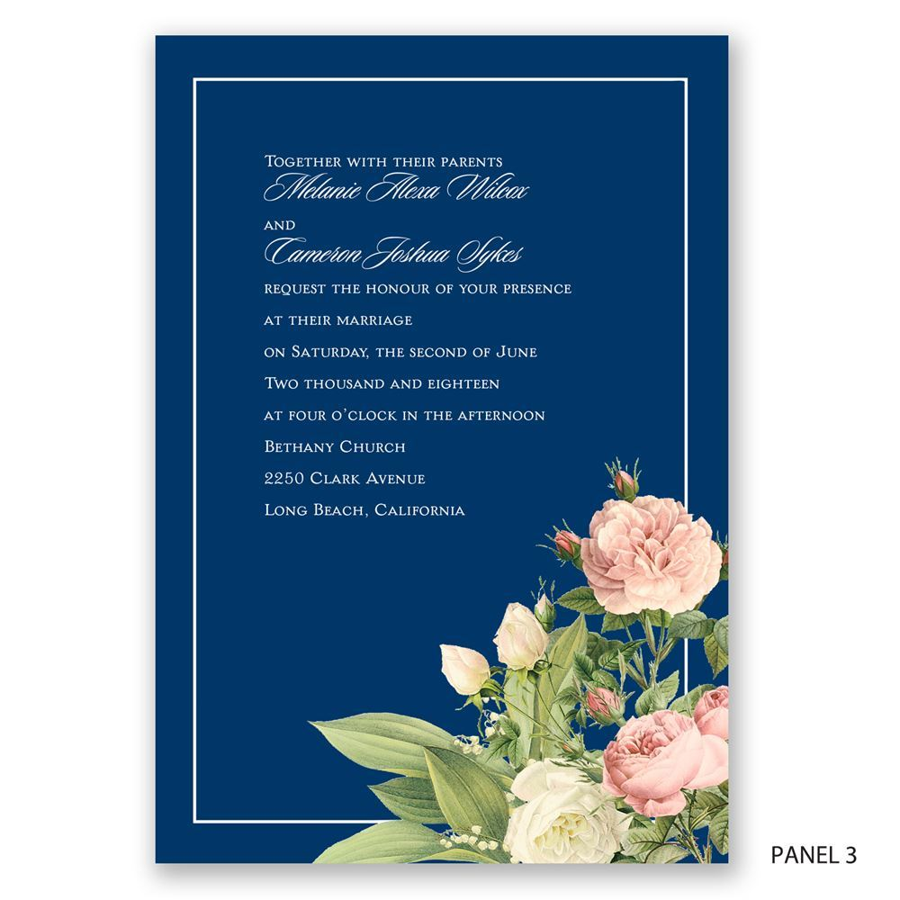 Brilliant Blooms Invitation Invitations By Dawn