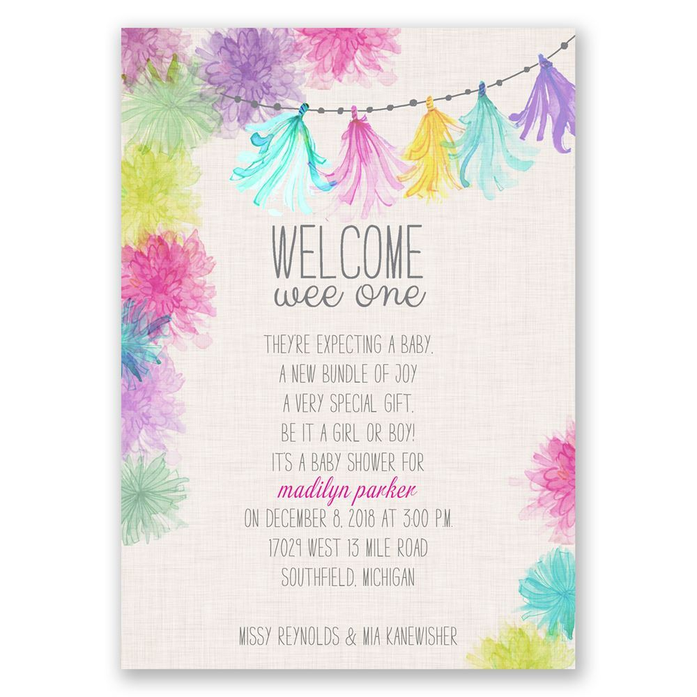 Watercolor Garland Baby Shower Invitation Invitations By