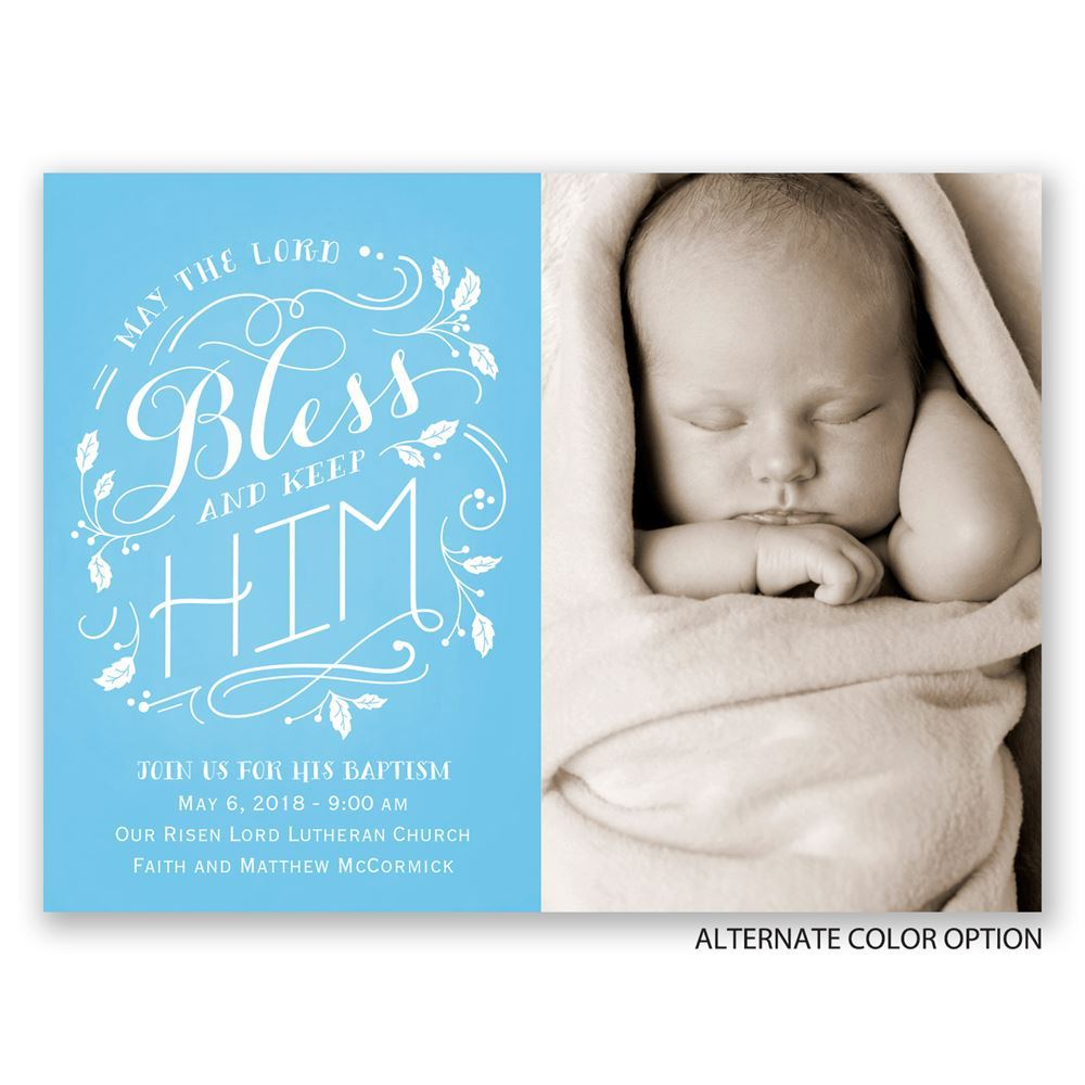 Bless Him Petite Baptism Invitation Invitations By Dawn