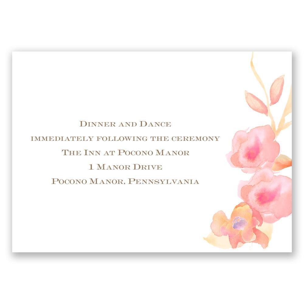 English Rose Reception Card Invitations By Dawn