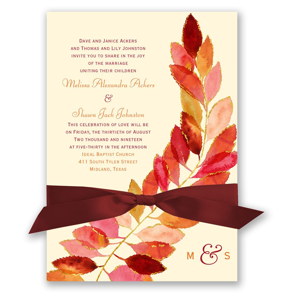 Feathered Fall Invitation Invitations By Dawn