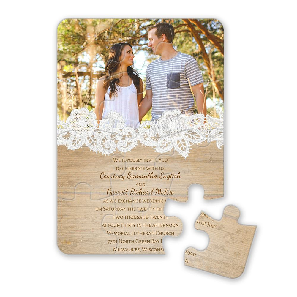 Puzzle Wedding Invitations