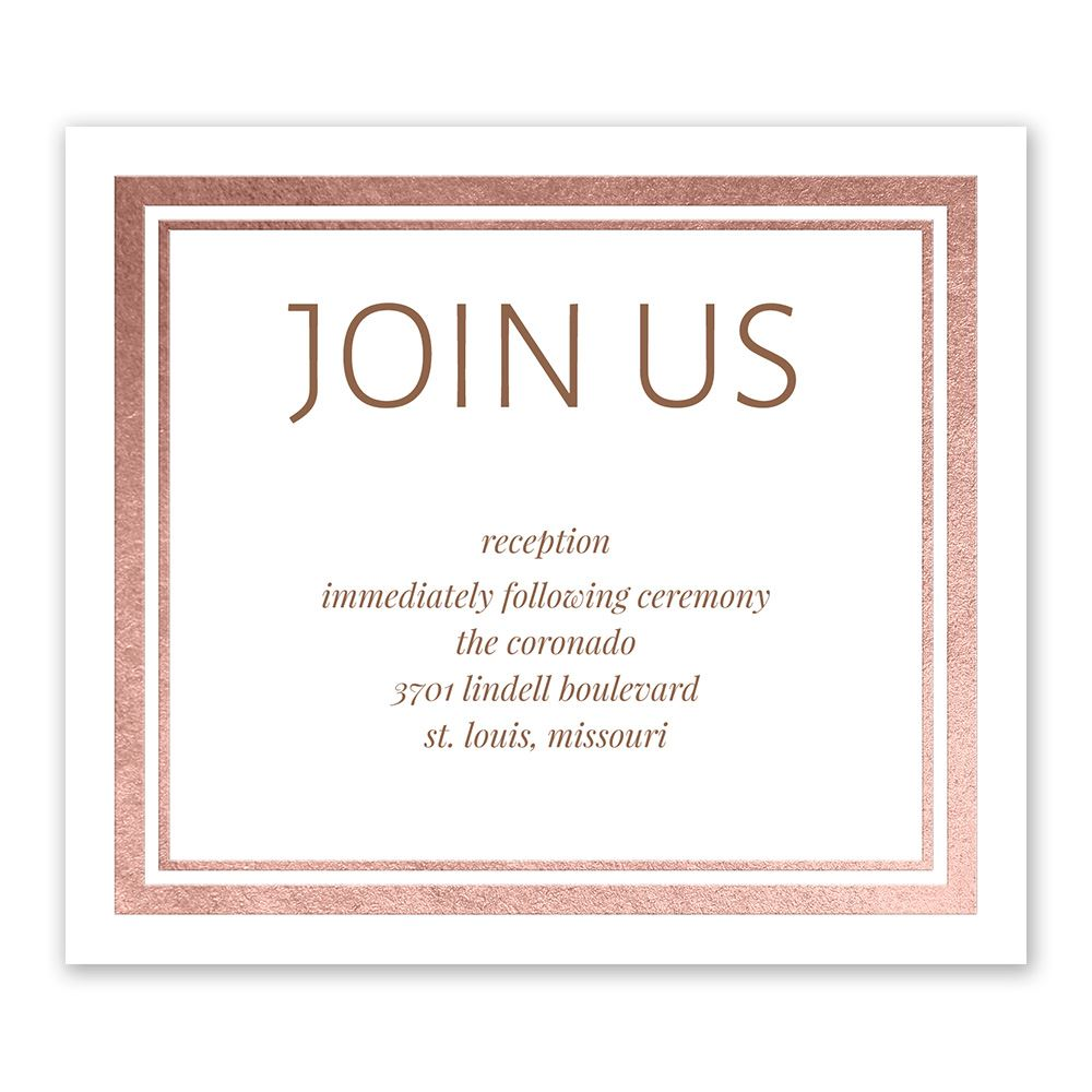 Modern Shine Foil Information Card Invitations By Dawn