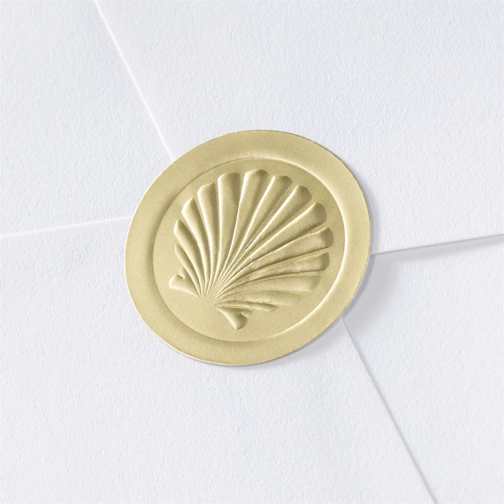 Blank Embossed Shell Seal Invitations By Dawn