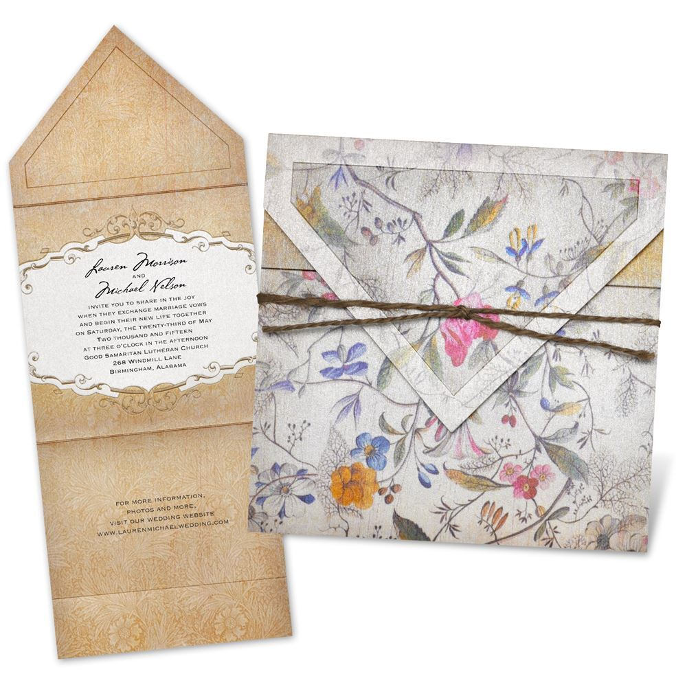 Antique Floral Invitation Invitations By Dawn