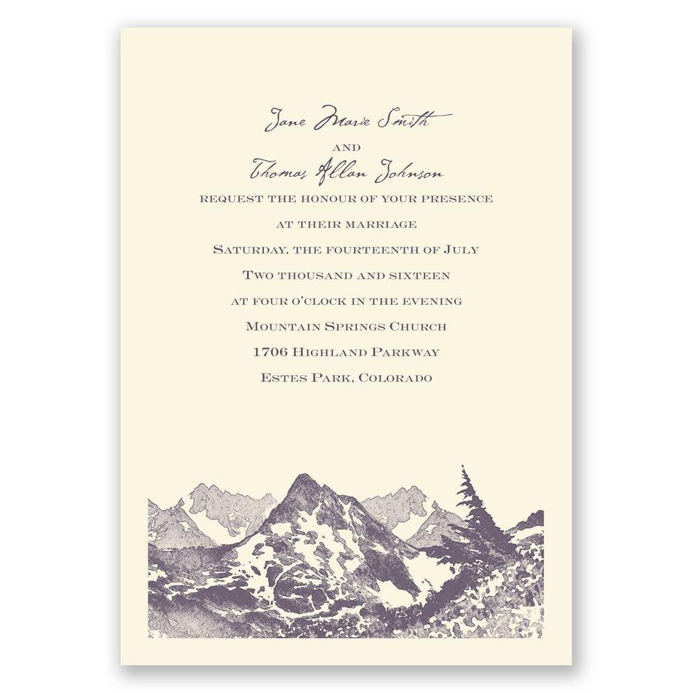 Watercolor Mountain Invitation Invitations By Dawn