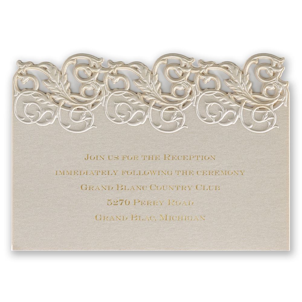Vintage Escape Laser Cut Reception Card Invitations By Dawn